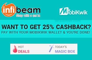 InfiBeam 25% Cashback via MobiKwik