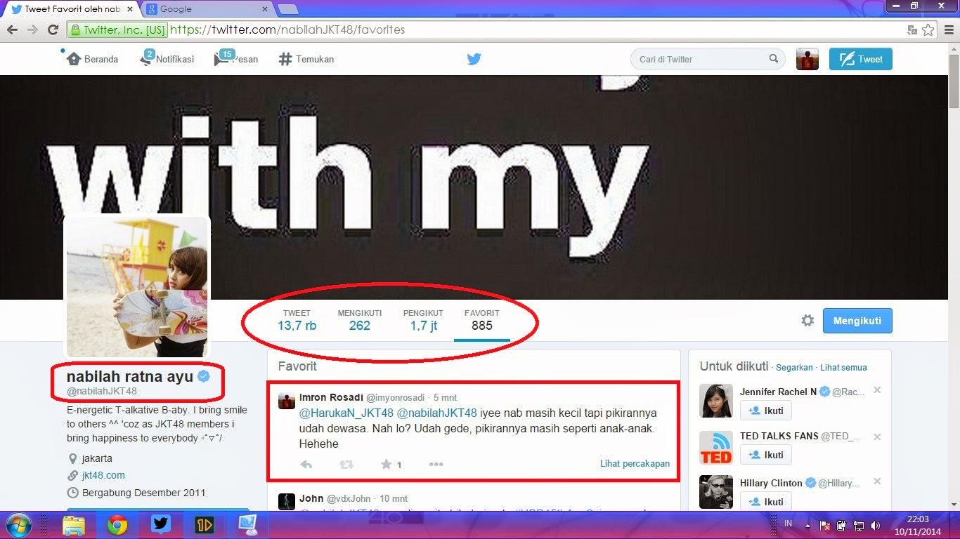 Trending Topic Twitter Ulang Tahun Nabilah JKT48