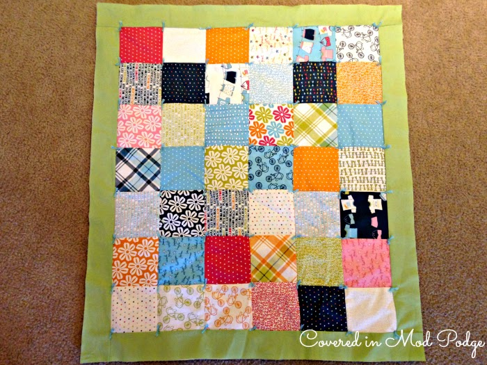 Covered in Mod Podge: How to Yarn Tie a Quilt {or busting out old ... : quilting with yarn - Adamdwight.com