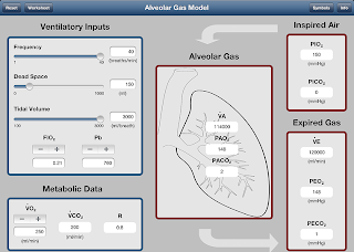 Alveolar Gas Medical App for the iPad
