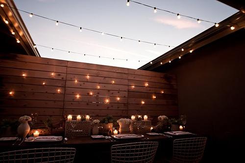 Backyard Lights On Fence : oncedailychic Fairy Lights