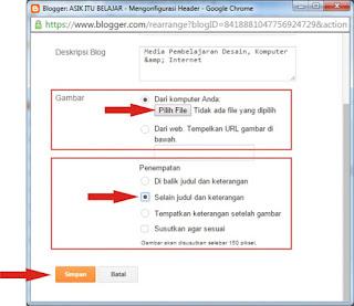 Cara Mengganti Judul Header Blog Dengan Gambar Logo