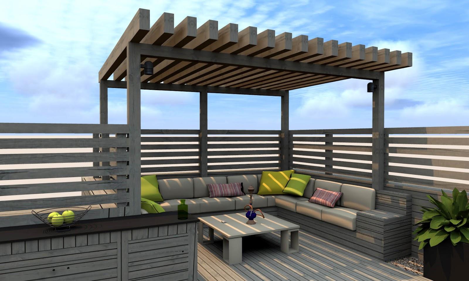 Terraza de diseno dise os arquitect nicos for Diseno terrazas modernas