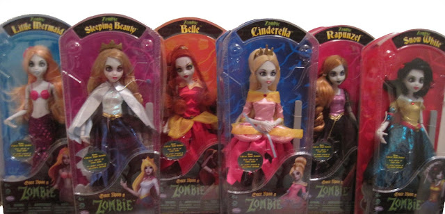 Complete first release of Once Upon a Zombie dolls, NIB.