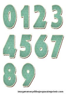 Numeros azul para niño Numeros baby shower para imprimir