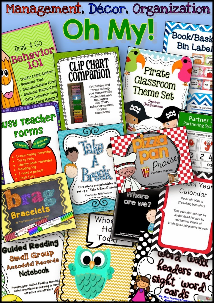 Classroom Management Decor ~ Classroom organization management decor