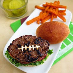Football Shaped Hamburgers & Buns