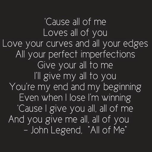 Lirik Lagu All Of Me_John Legend dan Terjemahanya