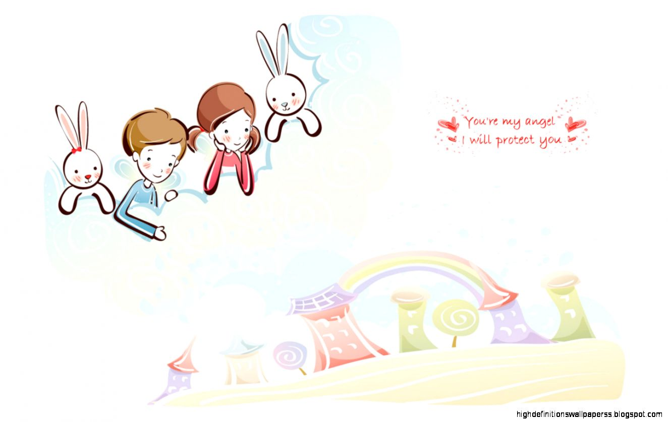 Vector Love cartoon Wallpaper : cute Love Vector couple Wallpaper High Definitions Wallpapers