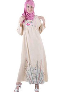 Najya Gamis LT11 - Krem (Toko Jilbab dan Busana Muslimah Terbaru)