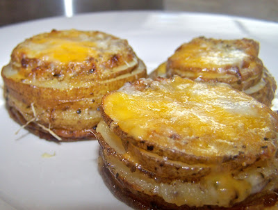 ... Cooking Challenge: Three Cheese and Onion Roasted Stacked Potatoes