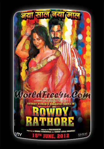Poster Of Rowdy Rathore (2012) All Full Music Video Songs Free Download Watch Online At worldfree4u.com
