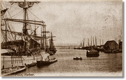 Vintage postcard of Poole Harbour
