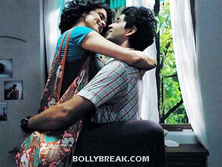 Gul Panag and Purab Kohli Kissing in Fatso - (10) - Bollywood Movies Kisses in 2012