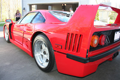 Ferrari F40 Side and Rear Vents Spoiler