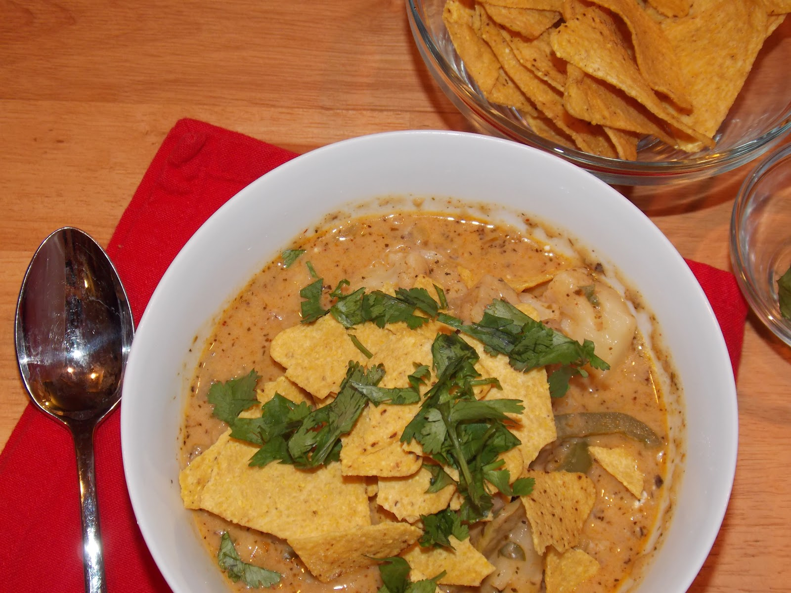 This chili is creamy and cheesy with a nice balance of heat from ...