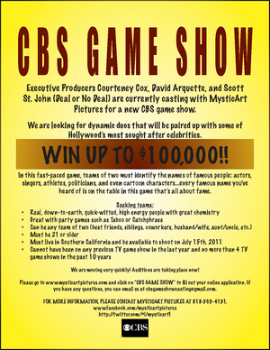 CBS Game Show Identity Crisis Flyer