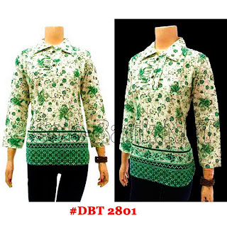 DBT2801 - Baju Bluse Batik Wanita Terbaru 2013