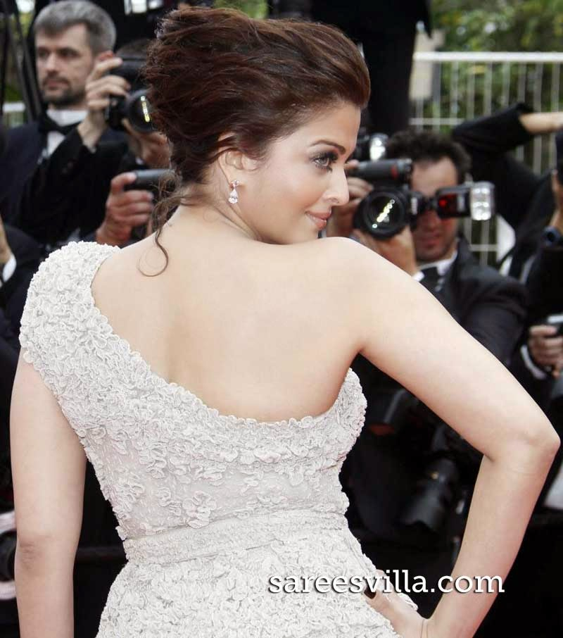 Aishwarya Rai Twisted Bun Hairstyle
