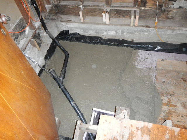 Crawl space rat slab this old folly for Concrete in crawl space