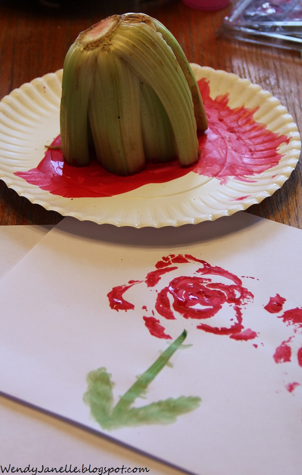 Living Creatively Painting Roses With Celery