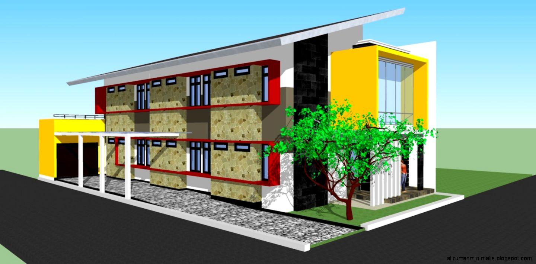 Desain rumah kost minimalis design