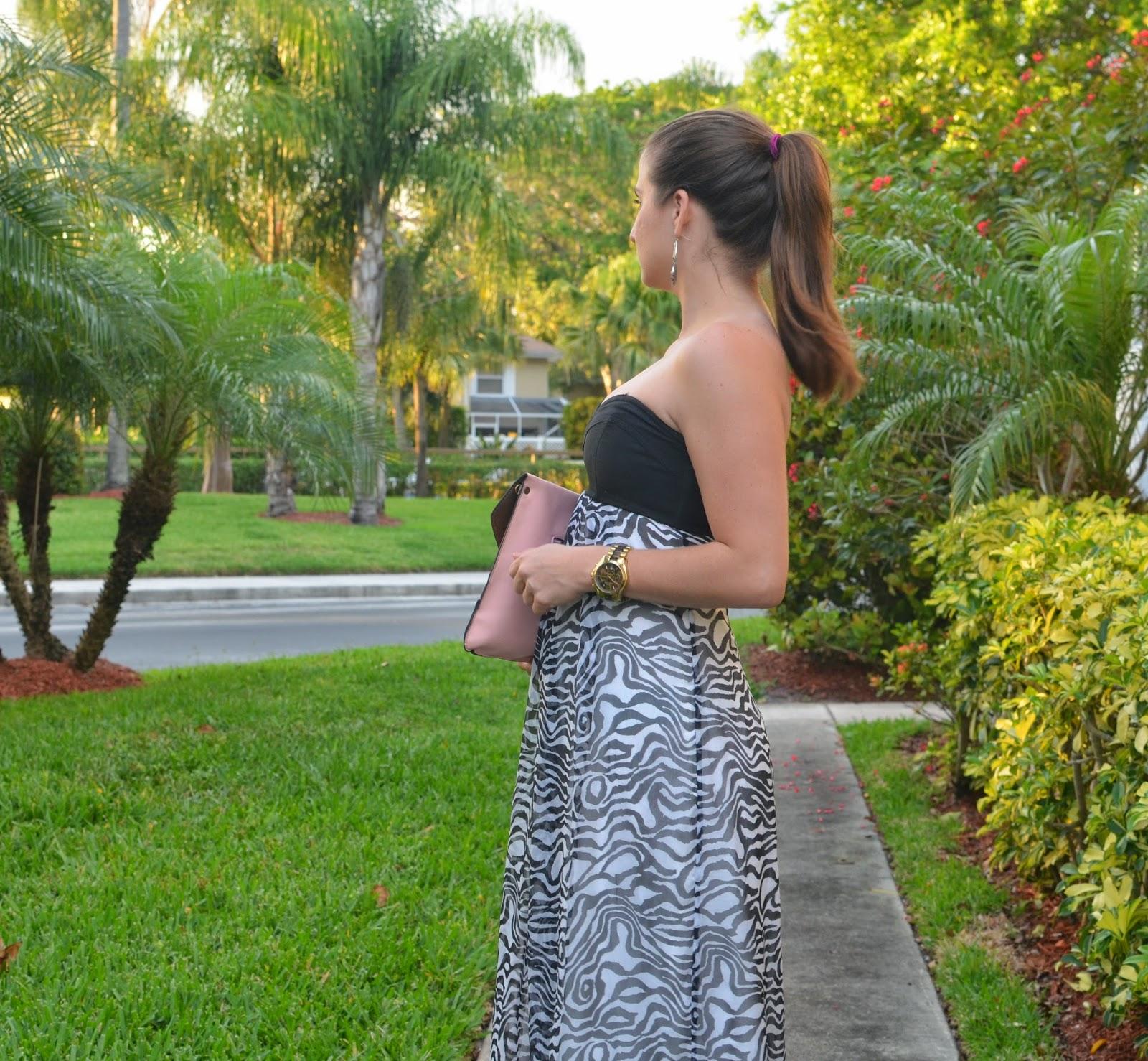 Maxi-dress - animal print - jelly flats - Emma & Sophia