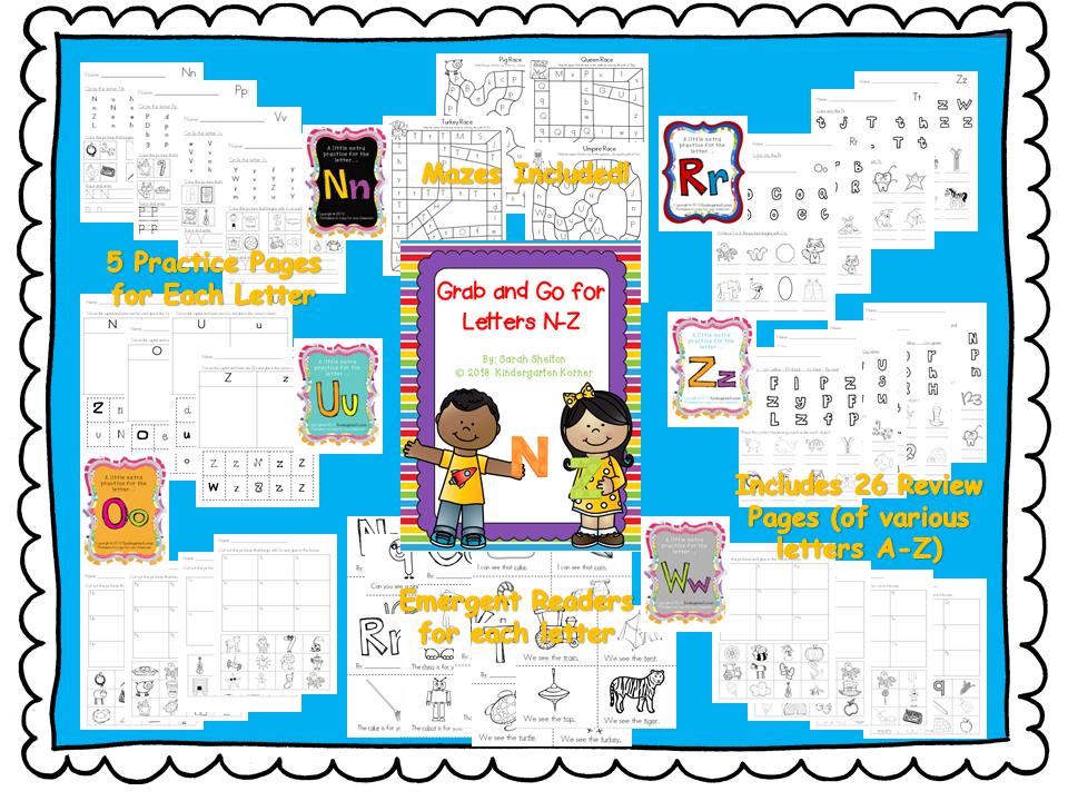 https://www.teacherspayteachers.com/Product/Letters-N-Z-RTI-Grab-and-Go-766068