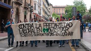 Crece la solidaridad con la huelga de los técnicos de Movistar