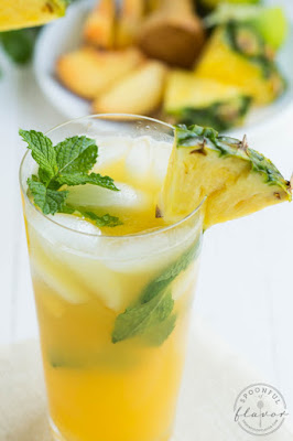 Pineapple Peach Mojito, shared by Spoonful of Flavor