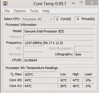 Core Temp Software Untuk Cek Suhu Prosesor Windows 8
