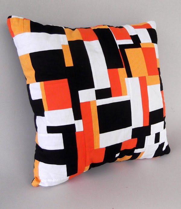 patchwork pillow, modern cushion, contemporary cushion, art cushion, patchwork cushion