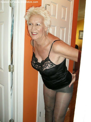 blonde mature wife in sexy underwear