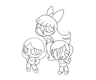 Blossom Powerpuff Girls Coloring Pages