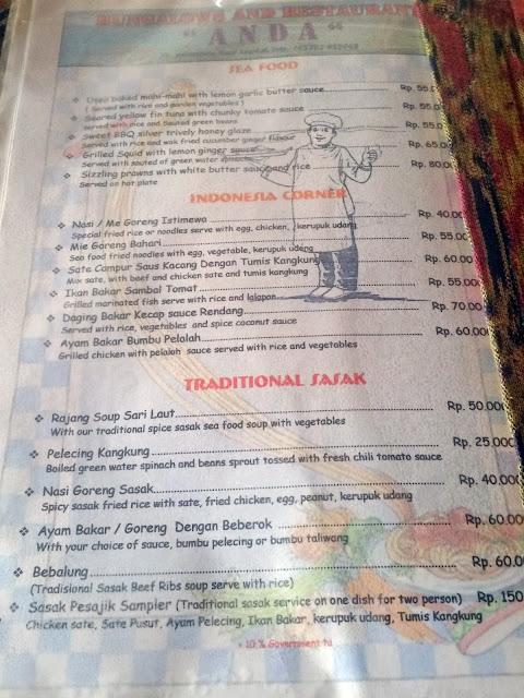 Anda Restaurant @ Kuta Lombok Beach | www.meheartseoul.blogspot.com