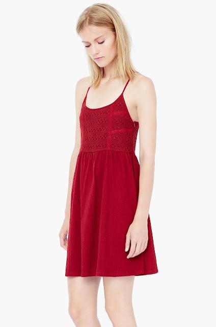 rochie rosie mango
