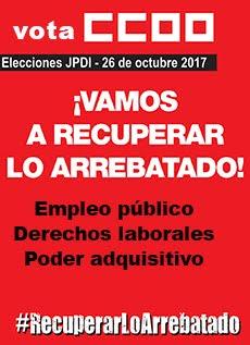 Vota CCOO - Elecciones JPDI