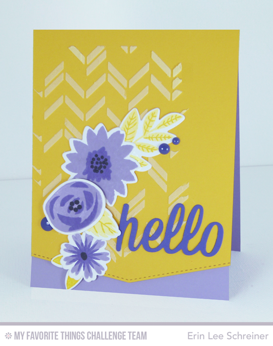 Floral Hello Card from Erin Lee Schreiner featuring the Modern Blooms stamp set and Die-namics