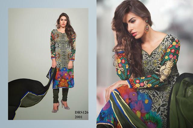 Designer Pure Chiffon Digital Printed Dress Material