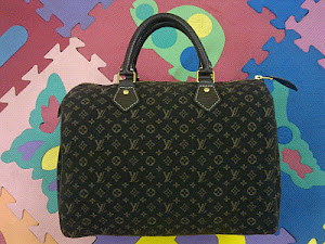 Louis Vuitton Mini Lin Ebene Speedy 30 Bag(SOLD)