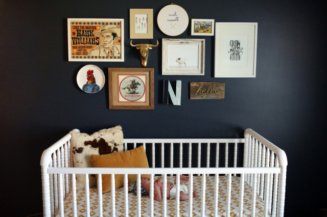 Black Walls in a Baby Nursery