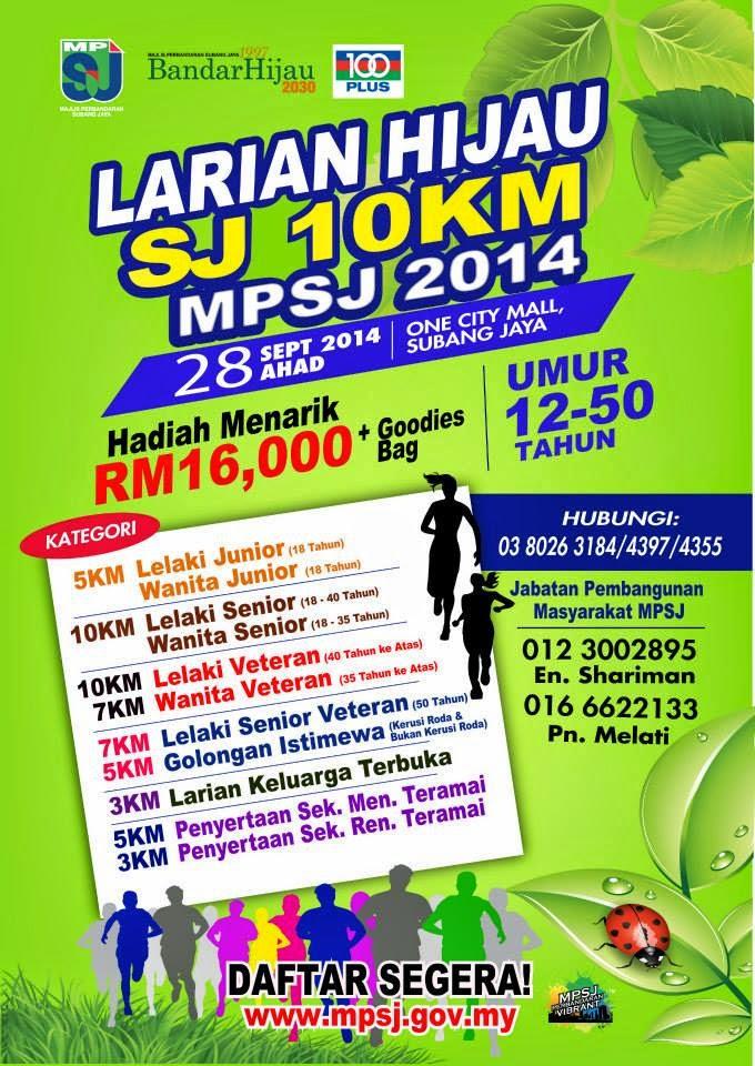 Larian Hijau SJ 10KM MPSJ 2014