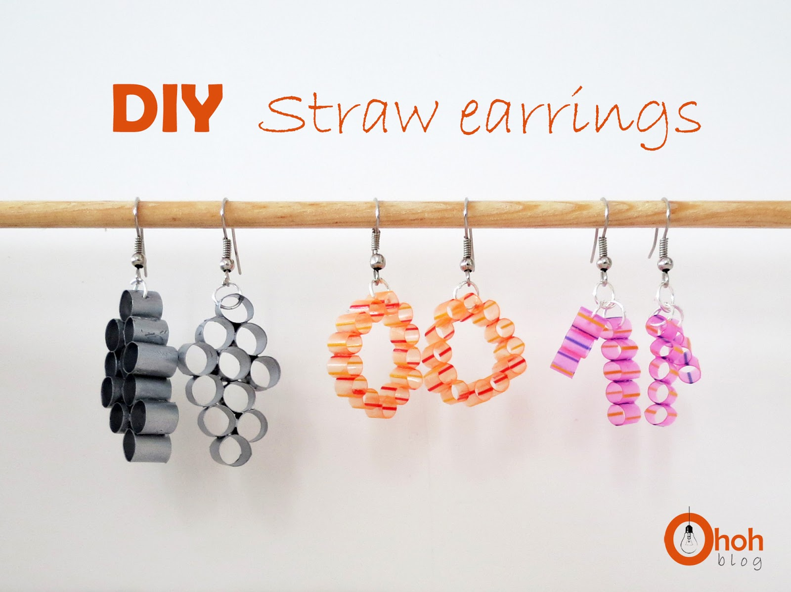 DIY Straw earrings - Ohoh Blog