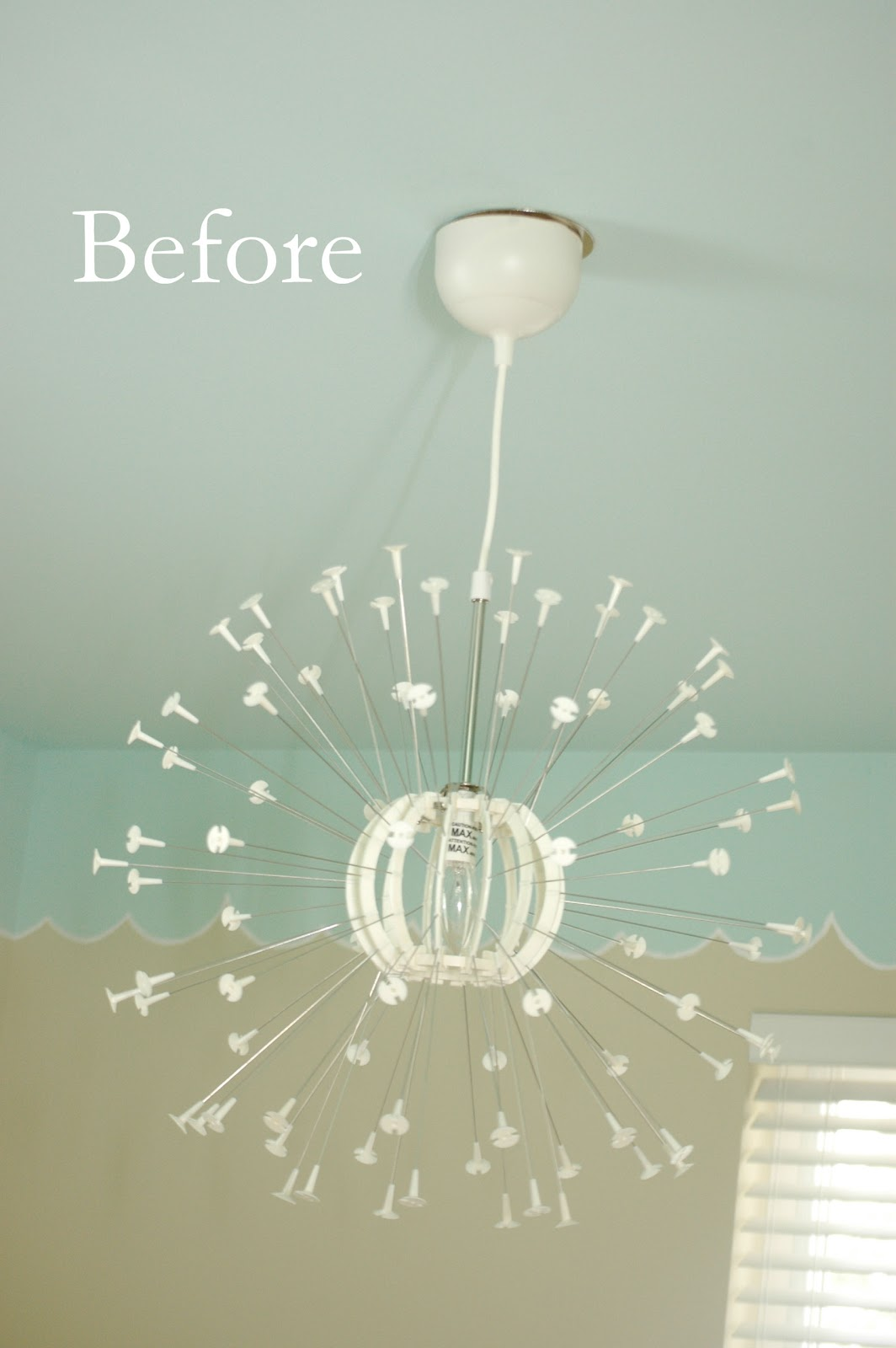 Picket fence design a diy flower chandelier my maskros makeover a diy flower chandelier my maskros makeover arubaitofo Image collections