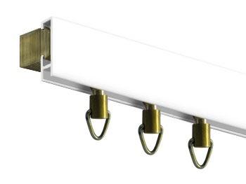 Rieles para cortinas cortinas y persianas for Ganchos para cortinas de riel