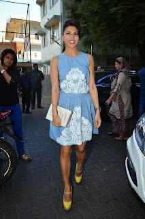 Jacqueline Fernandez Pictures in Blue Short Dress at Dental Specialty Clinic Smile Bar    ~ Bollywood and South Indian Cinema Actress Exclusive Picture Galleries