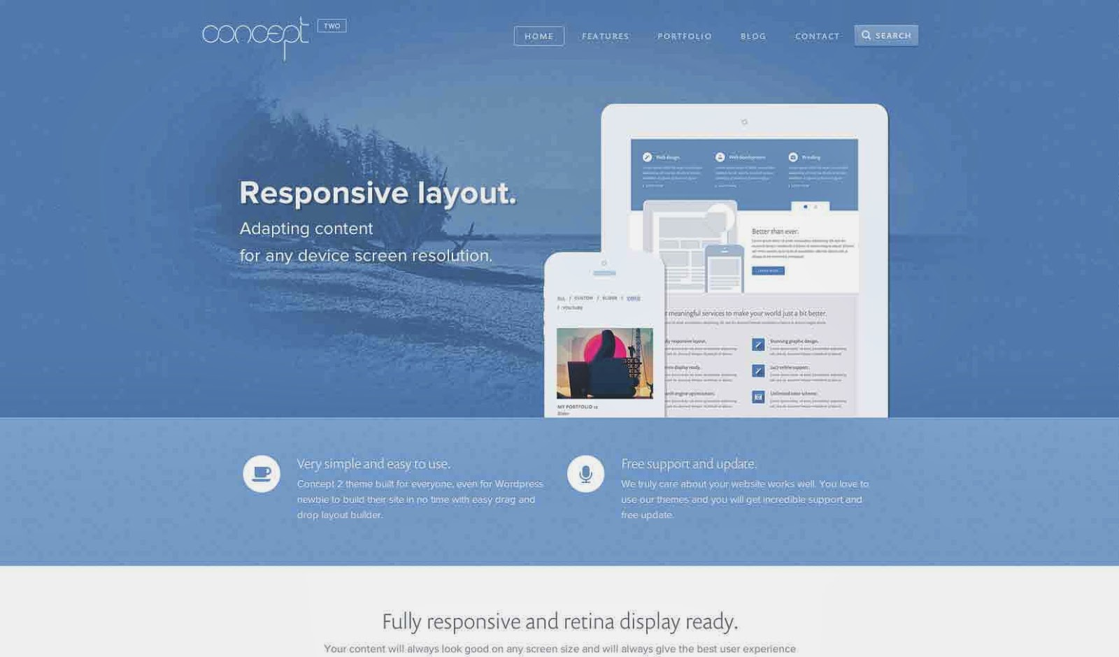 Concept 2 - Creative & Stunning Wordpress Theme.