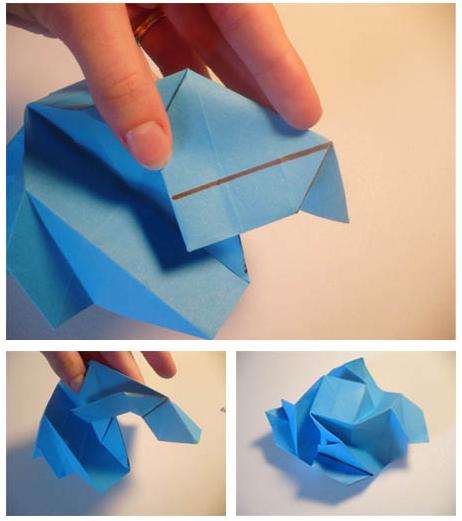 tutorial origami bunga yang mudah