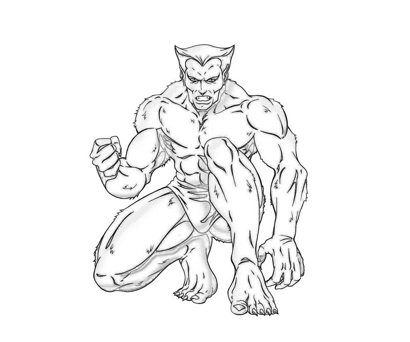 Beast X Men Beast Character Coloring Pages title=