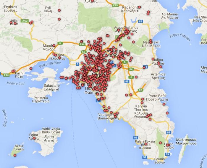 Χάρτης Δημοτικών Αθλητικών Εγκαταστάσεων